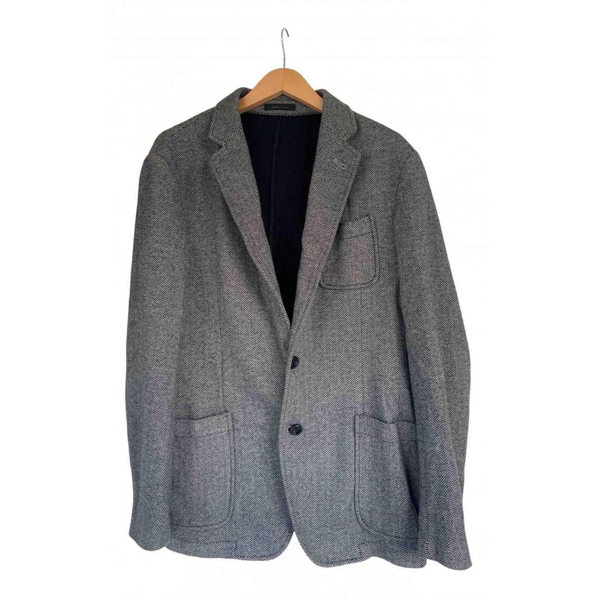 Armani Collezioni - Vestes.Blousons   pour homme en coton - gris