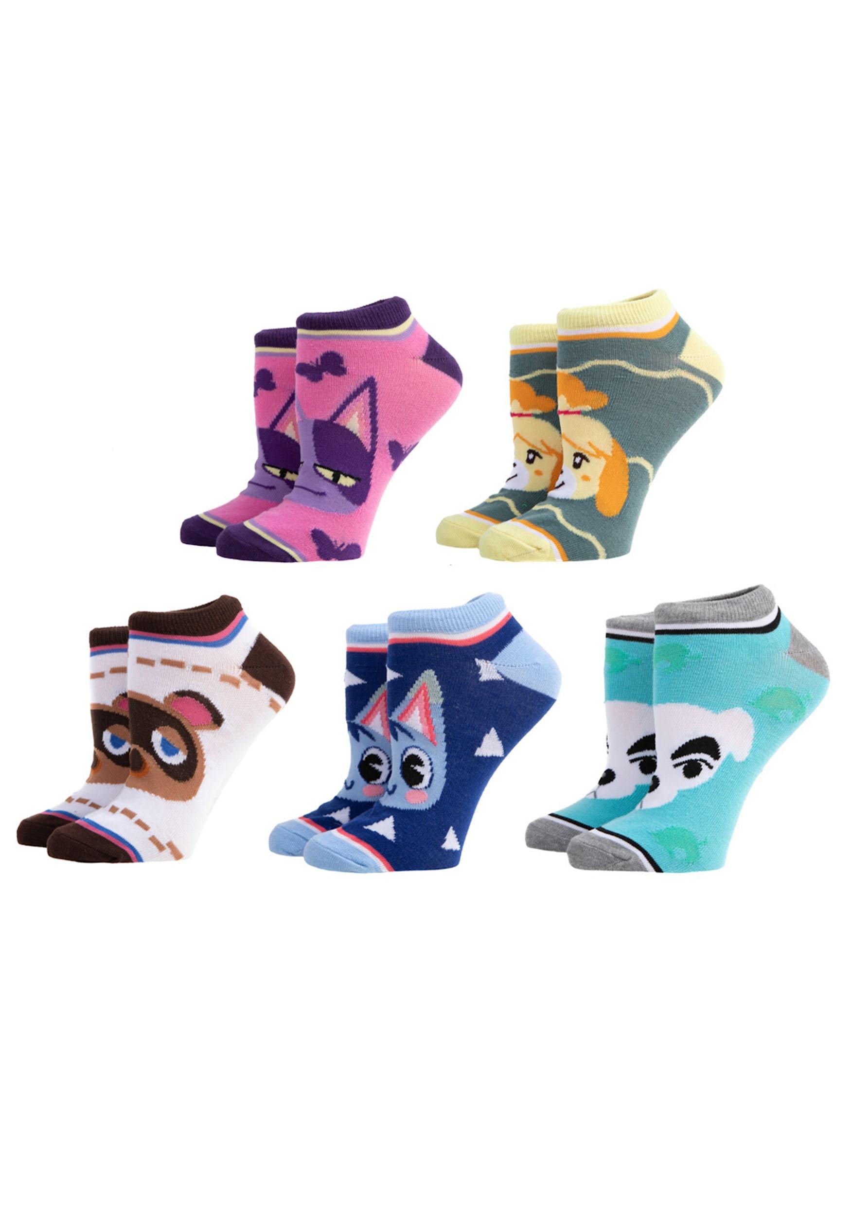 5 Pair Animal Crossing Ankle Sock Pack