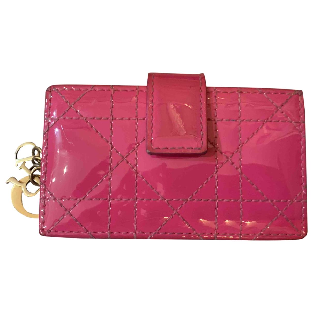 Dior - Petite maroquinerie   pour femme en cuir verni - rose
