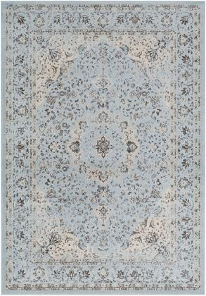 Chelsea CSA-2303 53 x 73 Rectangle Traditional Rug in Pale Blue  Medium Gray  Charcoal