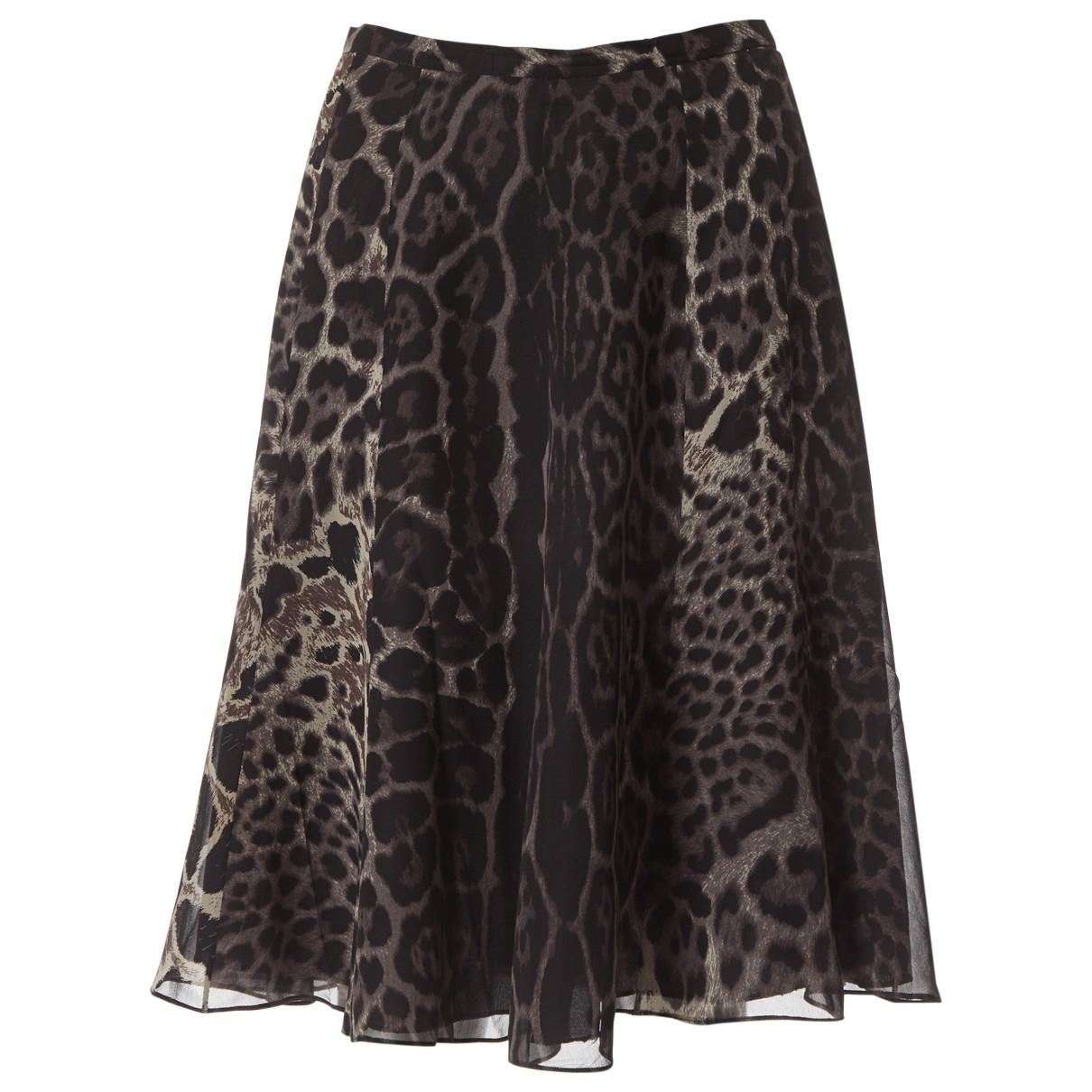 Yves Saint Laurent \N Grey Silk skirt for Women 36 FR