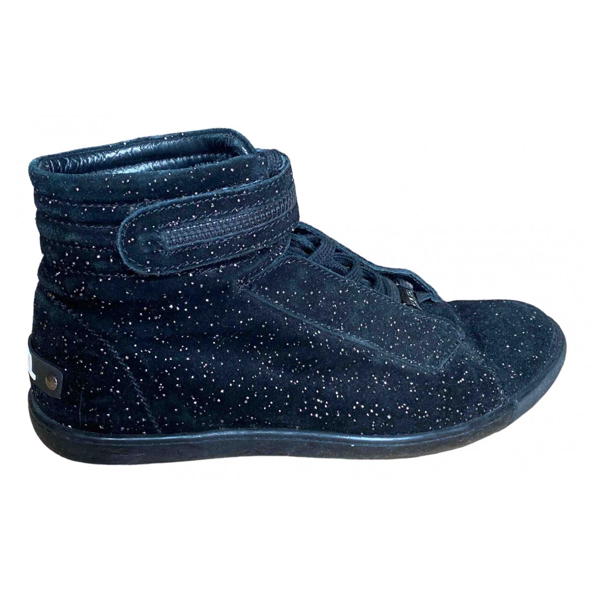 Karl \N Sneakers in  Schwarz Veloursleder