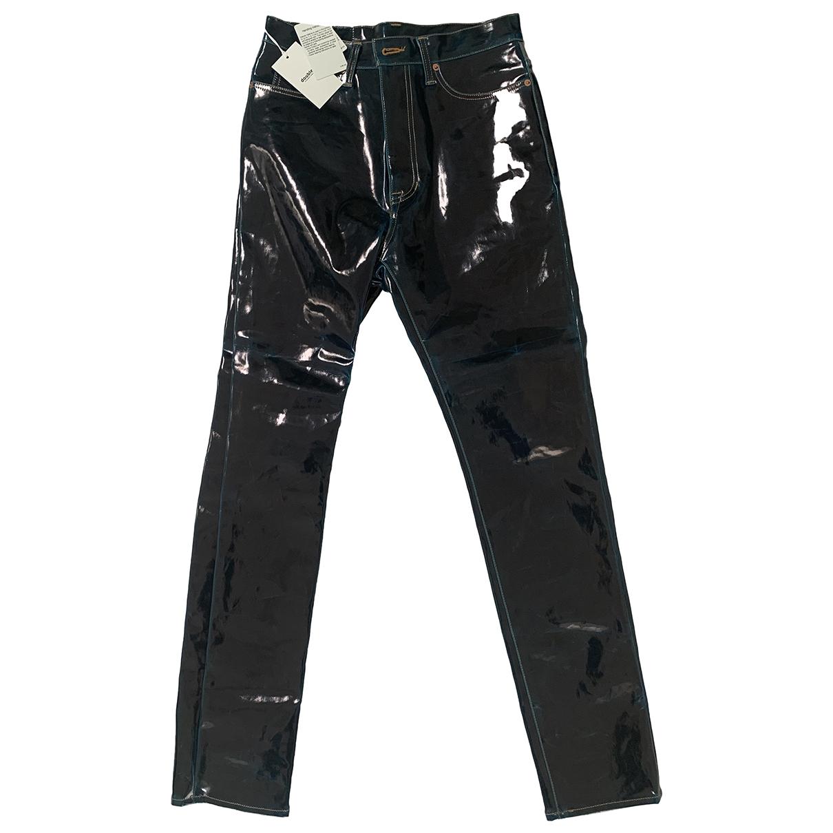Doublet \N Navy Cotton Jeans for Men 42 - 44 FR