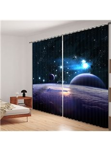 Planets in the Universe Printed 3D Curtain