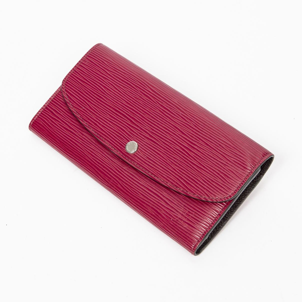 Louis Vuitton - Portefeuille Emilie pour femme en cuir - rose