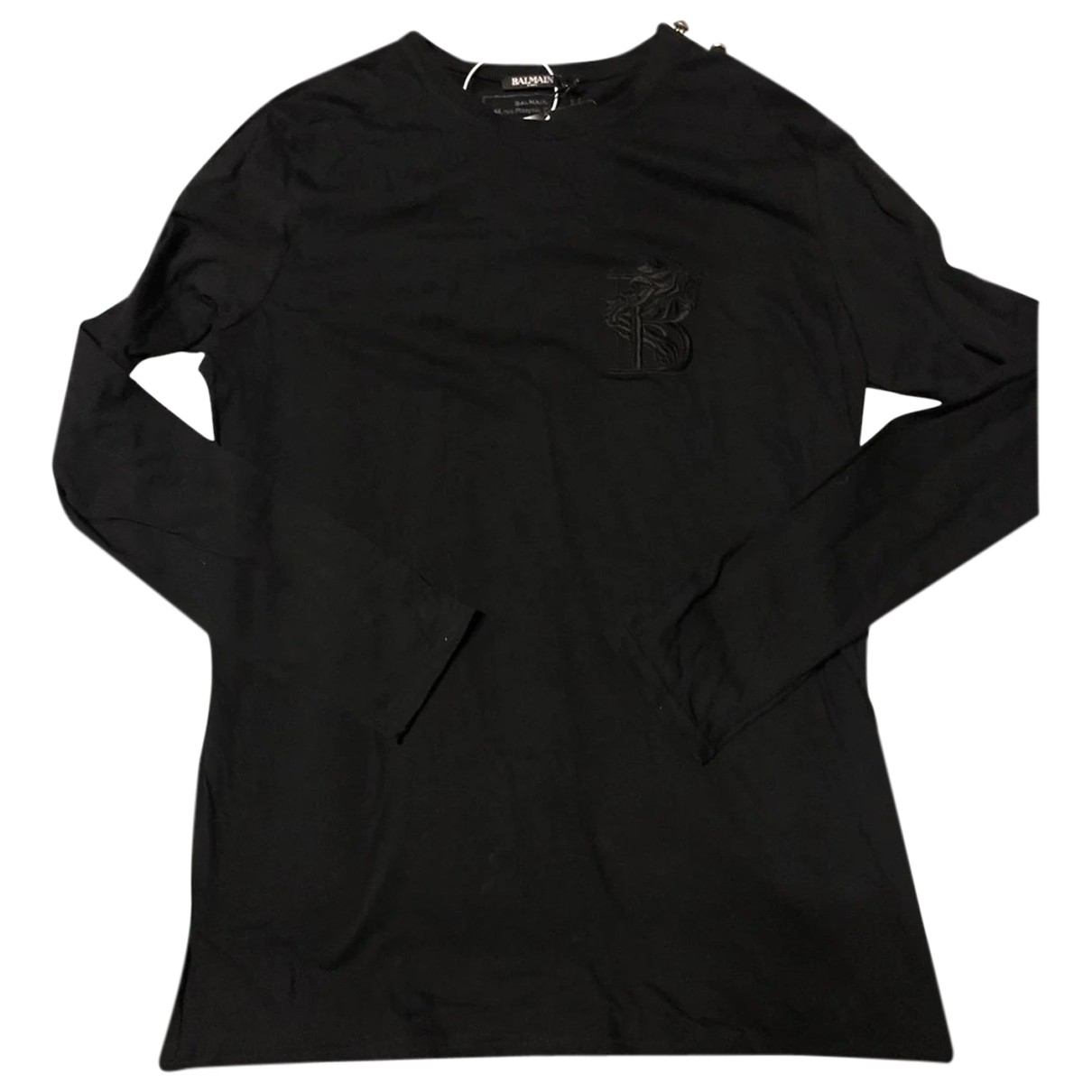 Balmain \N Black Cotton Knitwear & Sweatshirts for Men XXL International