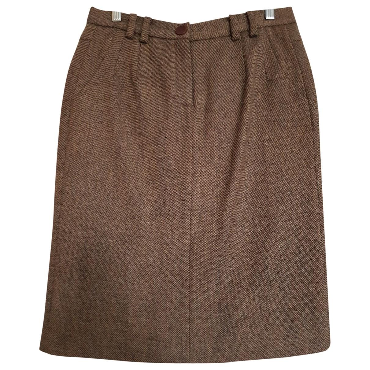 Hoss Intropia - Jupe   pour femme en laine - marron