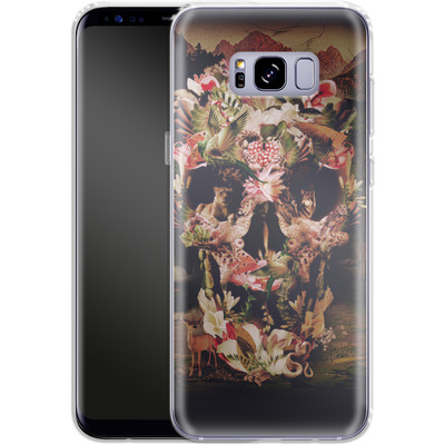 Samsung Galaxy S8 Plus Silikon Handyhuelle - Jungle Skull von Ali Gulec
