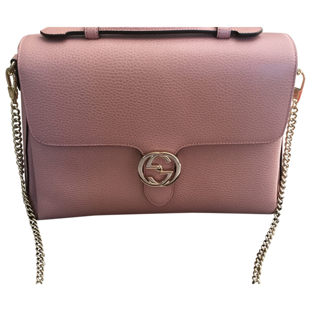 Gucci Interlocking Pink Leather handbag for Women N