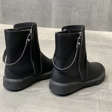 Back Strap Minimalist Ankle Boots