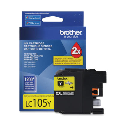 Brother LC105YS Original Yellow Ink Cartridge Extra High Yield