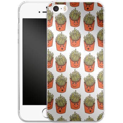 Apple iPhone 5s Silikon Handyhuelle - Happy Fries von caseable Designs