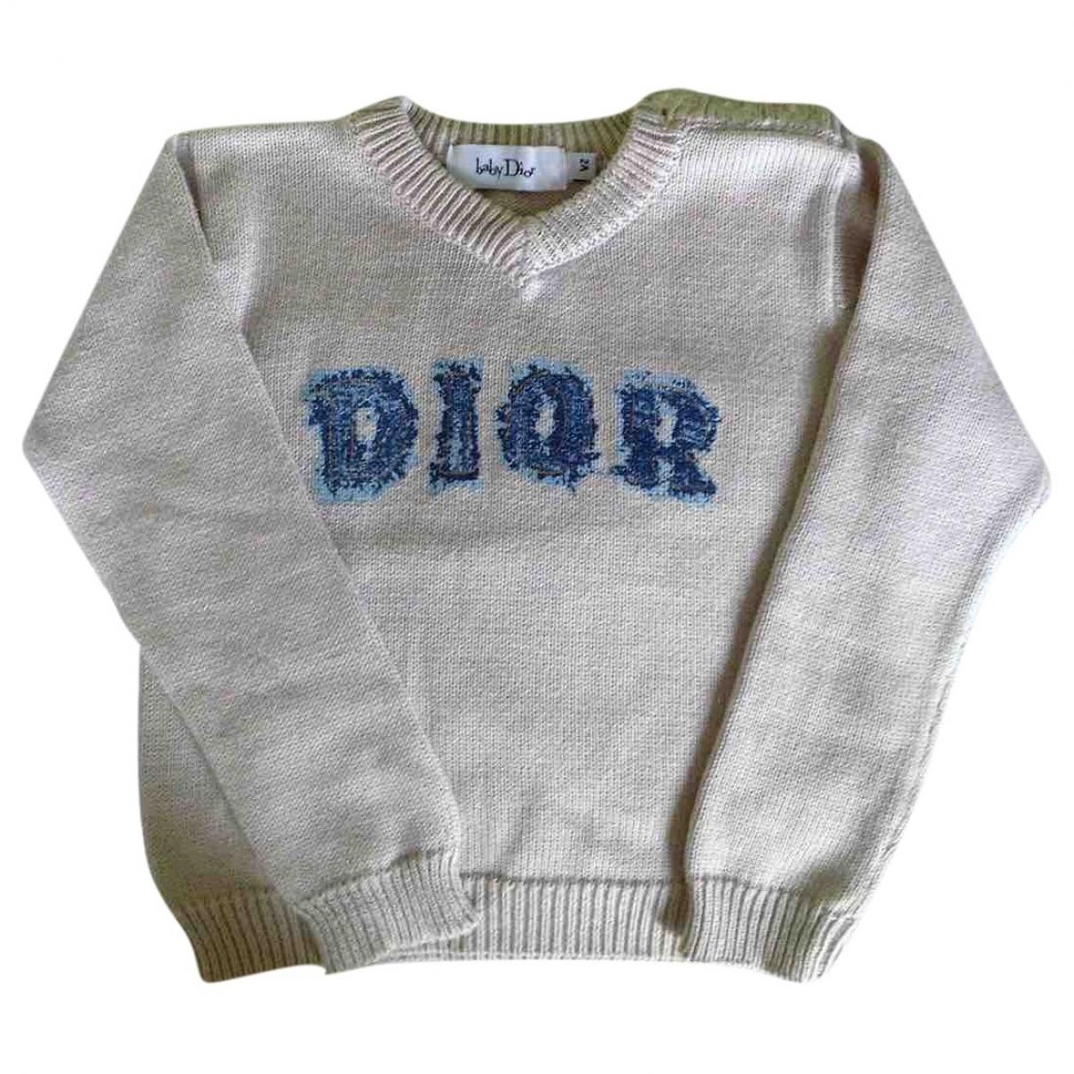 Baby Dior - Pull   pour enfant en coton - beige