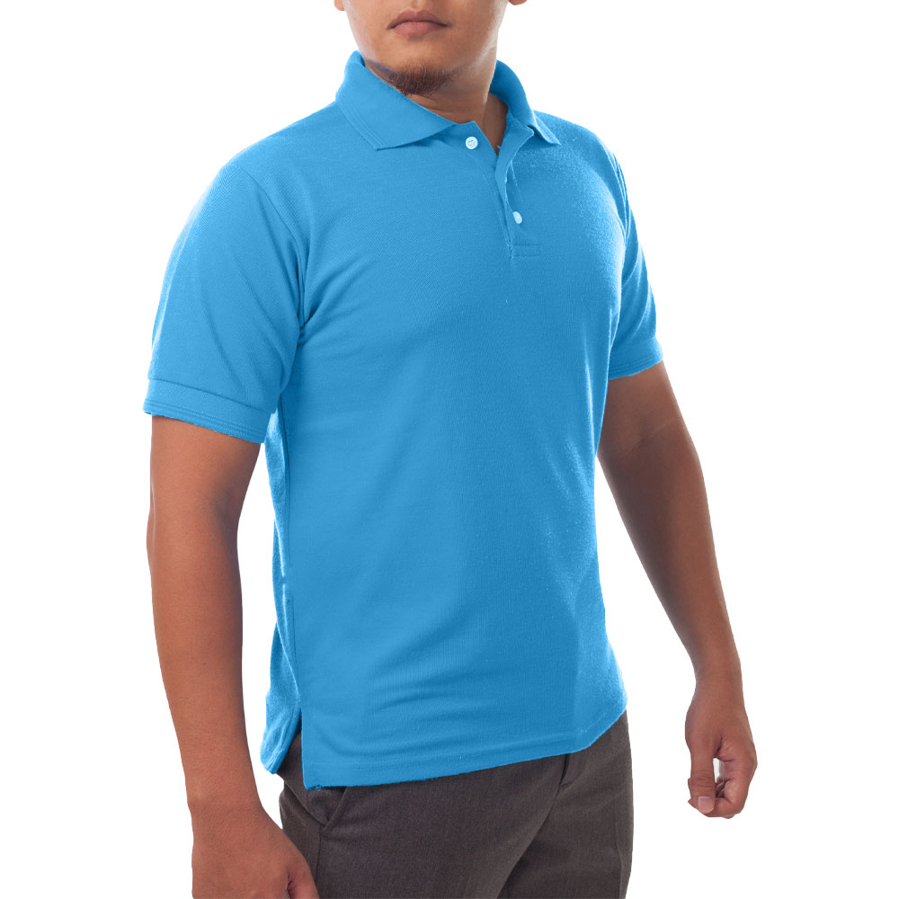Page & Tuttle Solid Jersey Short Sleeve Polo Golf Shirt Blue- Mens- Size XXXXL