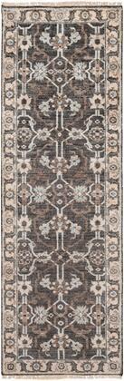 Theodora THO-3000 2' x 3' Rectangle Traditional Rugs in Black  Medium Gray  Pale Blue  Khaki