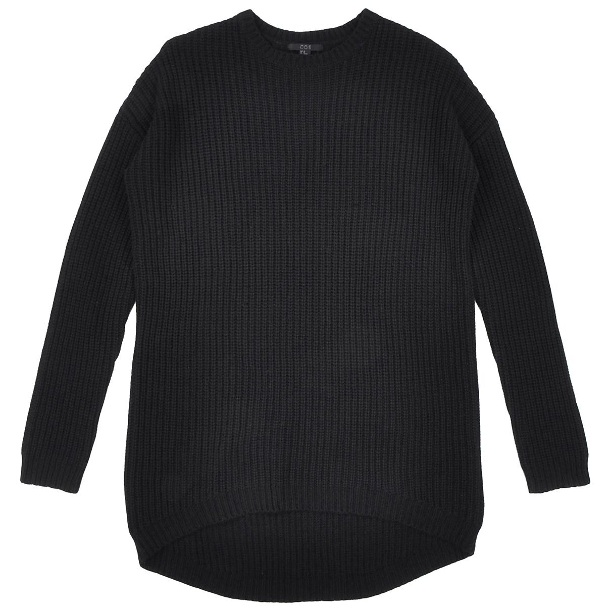 Cos - Pull   pour femme en laine - noir