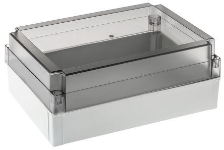 Fibox MNX, Grey, Smoked Transparent Polycarbonate Enclosure, IP66, IP67, 255 x 180 x 100mm