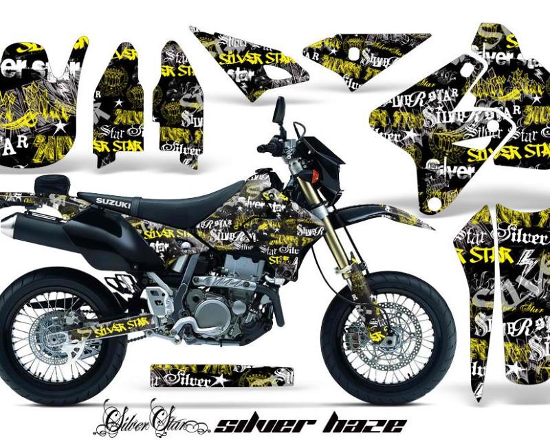 AMR Racing Dirt Bike Graphics Kit Decal Sticker Wrap For Suzuki DRZ400SM 2000-2018áSSSH YELLOW BLACK