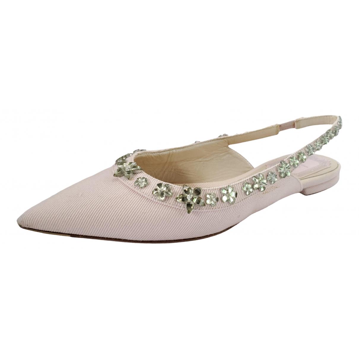 Dior \N Ballerinas in  Rosa Leinen