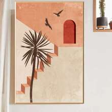 Stairs Pattern Wall Painting Without Frame