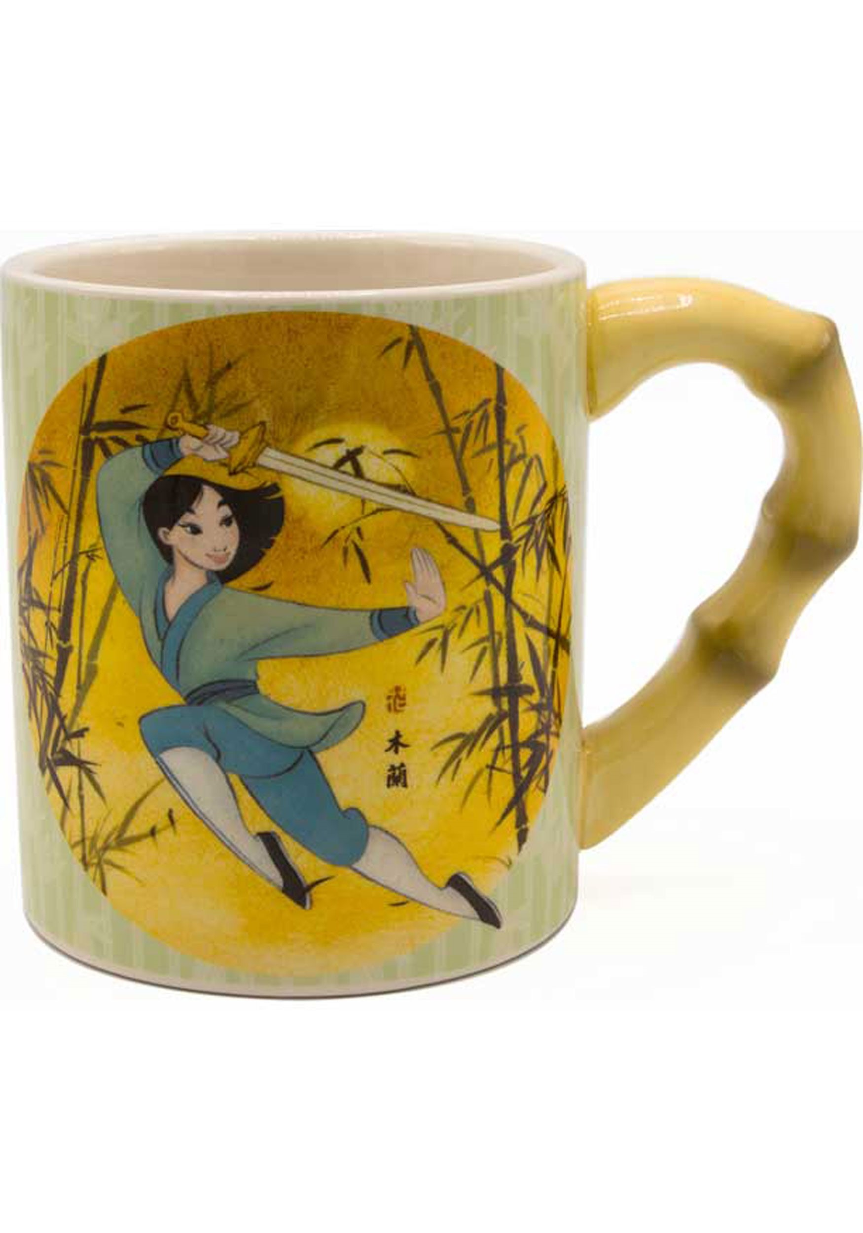 Disney Mulan 20oz Ceramic Mug w/ Sculpted Bamboo Handle