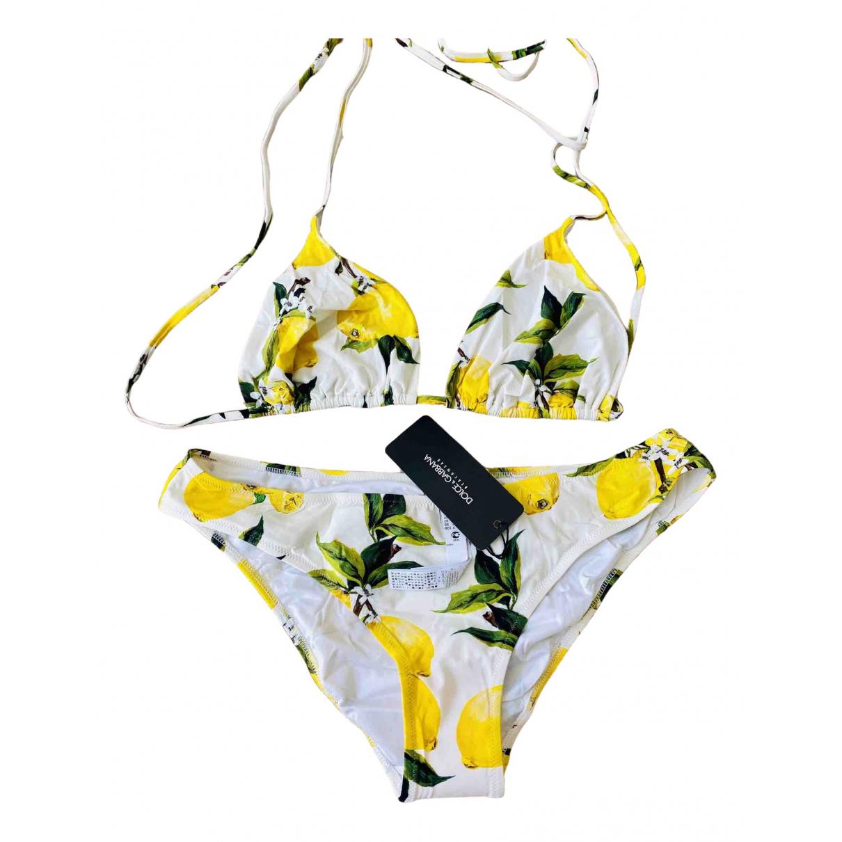 Dolce & Gabbana \N Badeanzug in  Gelb Polyester