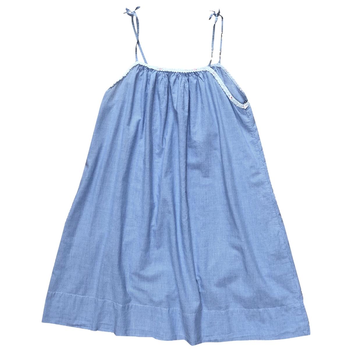 Petit Bateau - Robe    pour enfant en coton - bleu