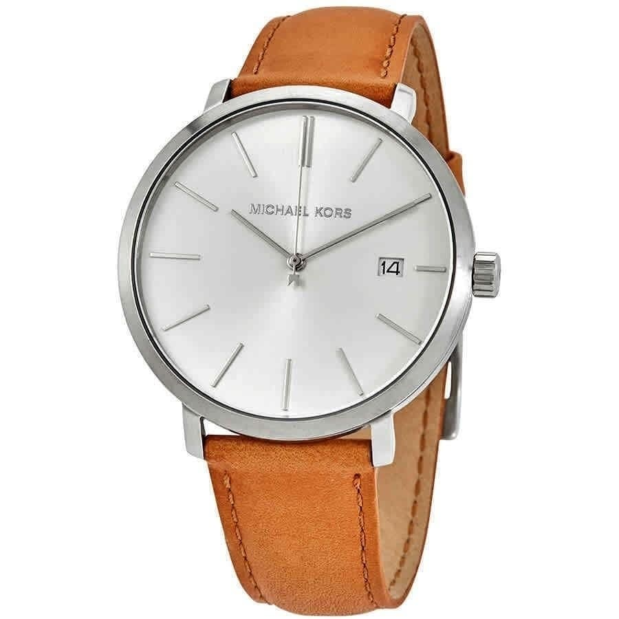 Michael Kors Men's MK8673 'Blake' Brown Leather Watch (Male - Stainless Steel - New)
