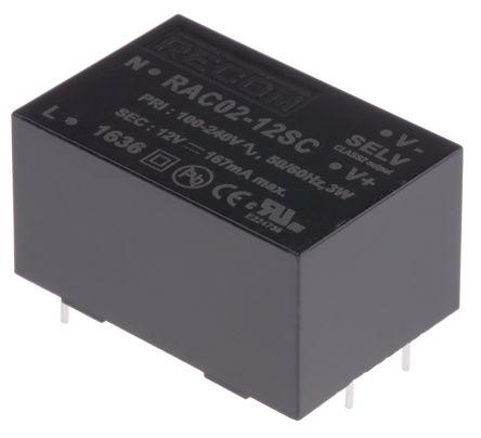 Recom , 2W Embedded Switch Mode Power Supply SMPS, 12V dc, Encapsulated