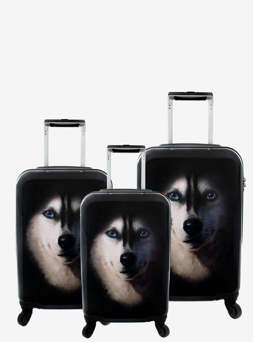Husky Hard Sided 3 Pc Luggage Set