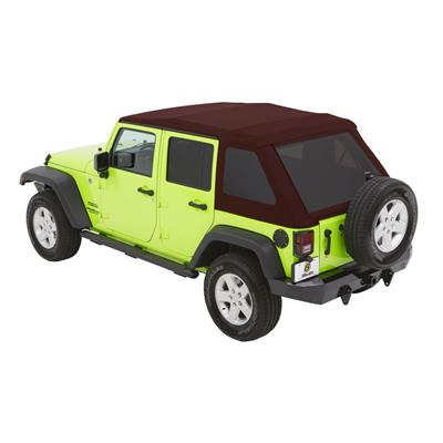Bestop Trektop NX Glide Soft Top with Tinted Windows without Doors (Crushed Red Pepper) - 54923-68
