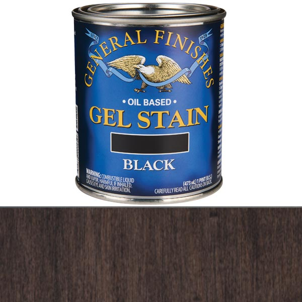Black Stain Gel Solvent Based Pint