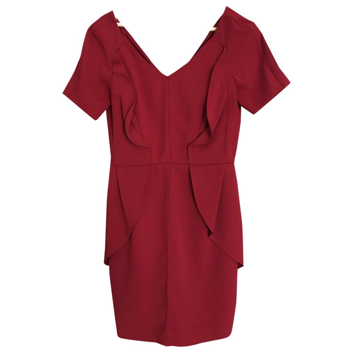 The Kooples - Robe   pour femme en coton - bordeaux