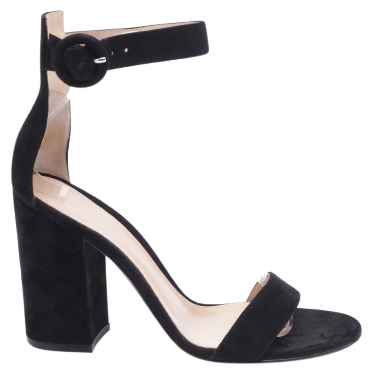 Gianvito Rossi N Black Leather Sandals for Women 38.5 EU