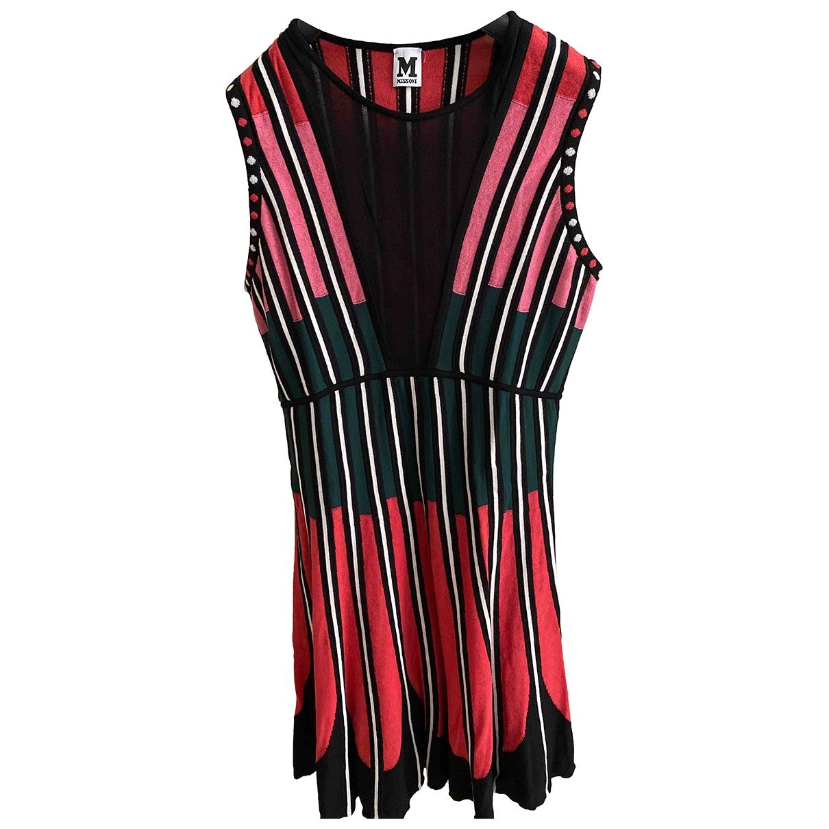 M Missoni \N Burgundy Cotton - elasthane dress for Women 44 IT