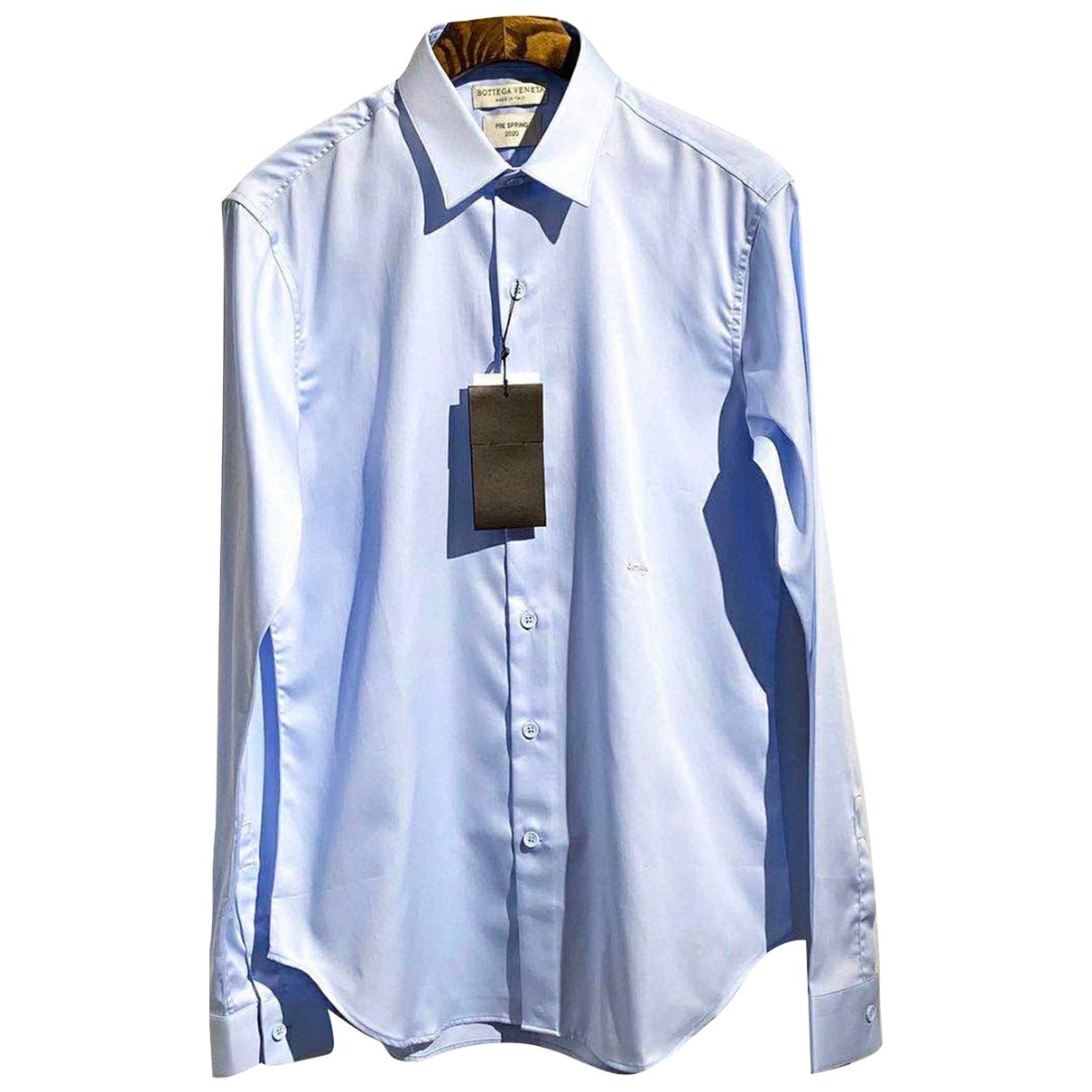 Bottega Veneta - Chemises   pour homme en coton - bleu