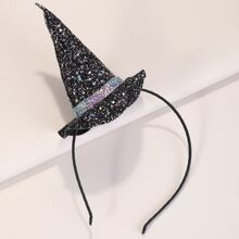Toddler Girls Witch Hat Decor Hair Hoop