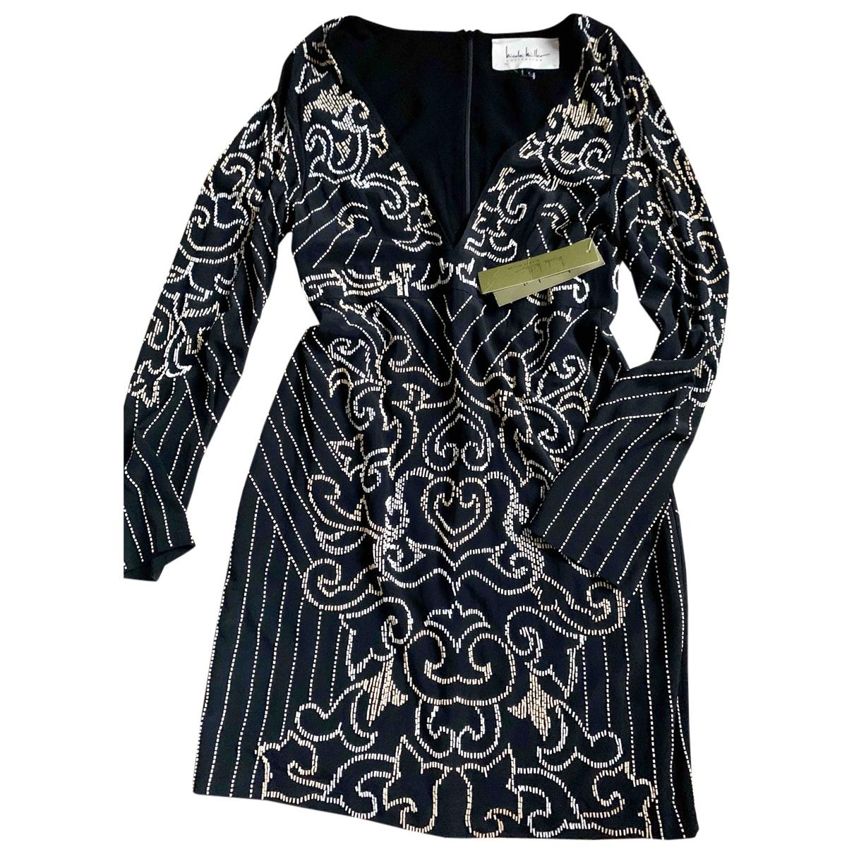 Nicole Miller - Robe   pour femme en soie - noir