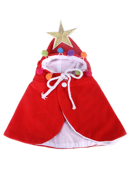 Milanoo Traje de mascota Navidad Scraf Teal Cloak Poliester Pet Supply