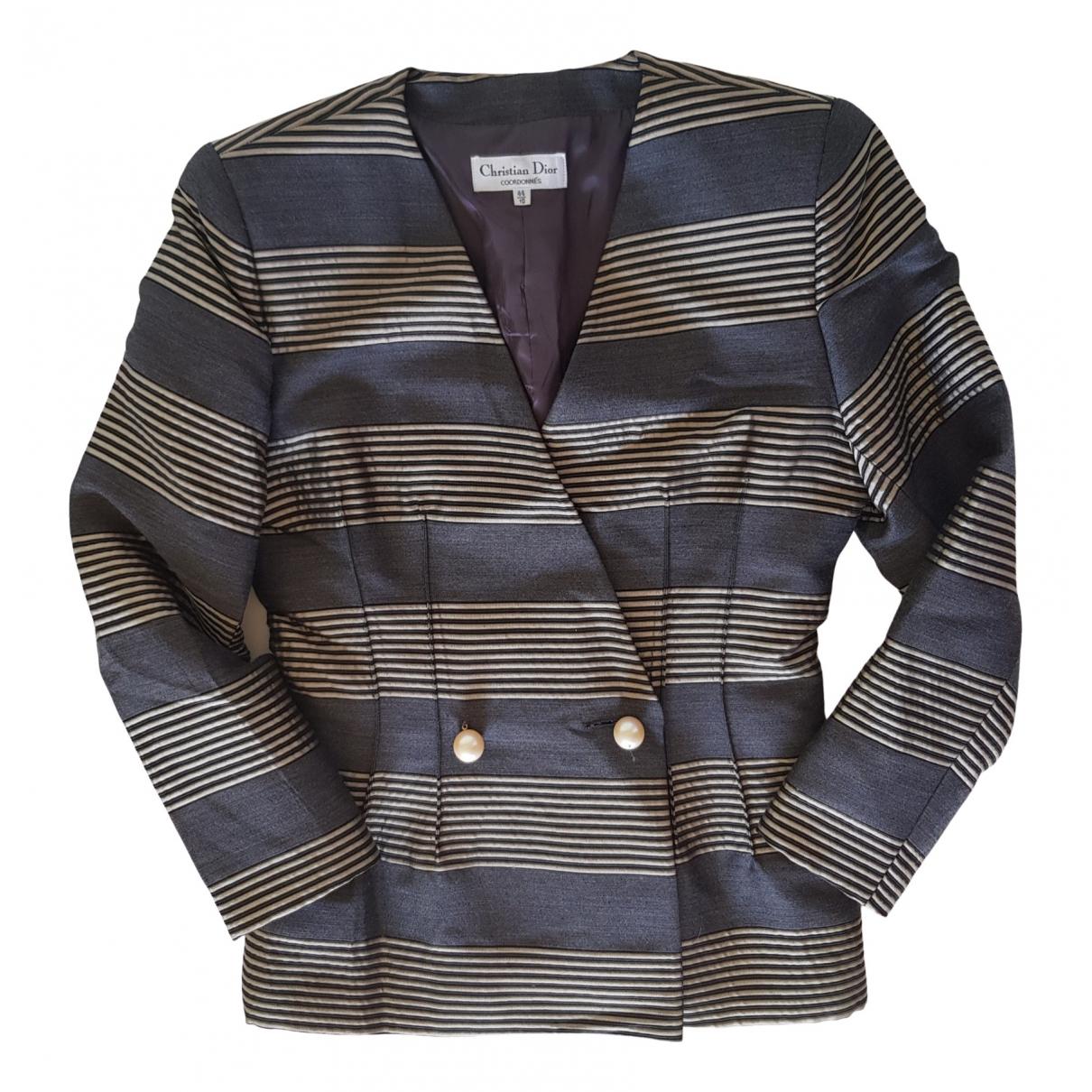 Dior \N Grey Silk jacket for Women 44 FR