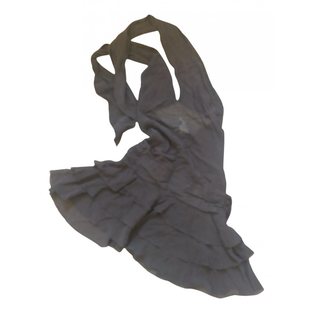 Patrizia Pepe \N Kleid in  Braun Seide