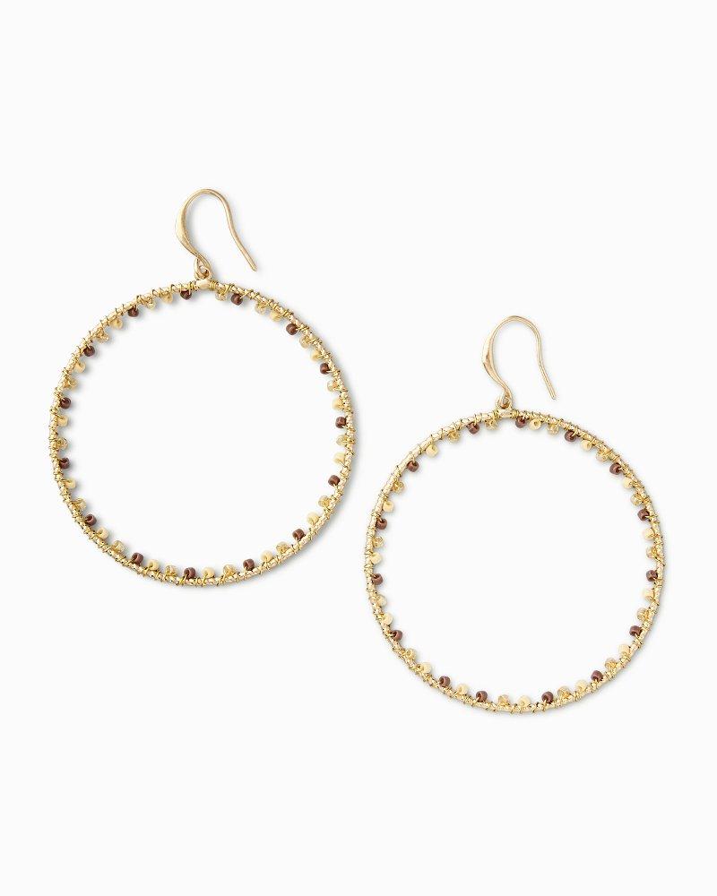 Golden Sands Hoop Earrings