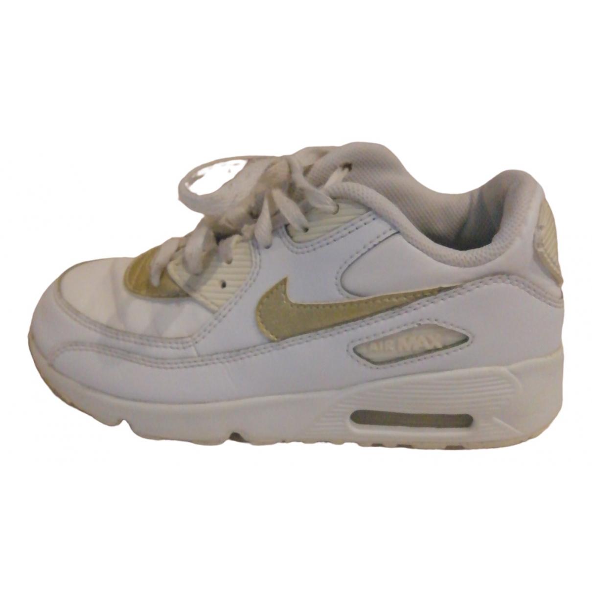 Nike Air Max  Sneakers in  Weiss Leder