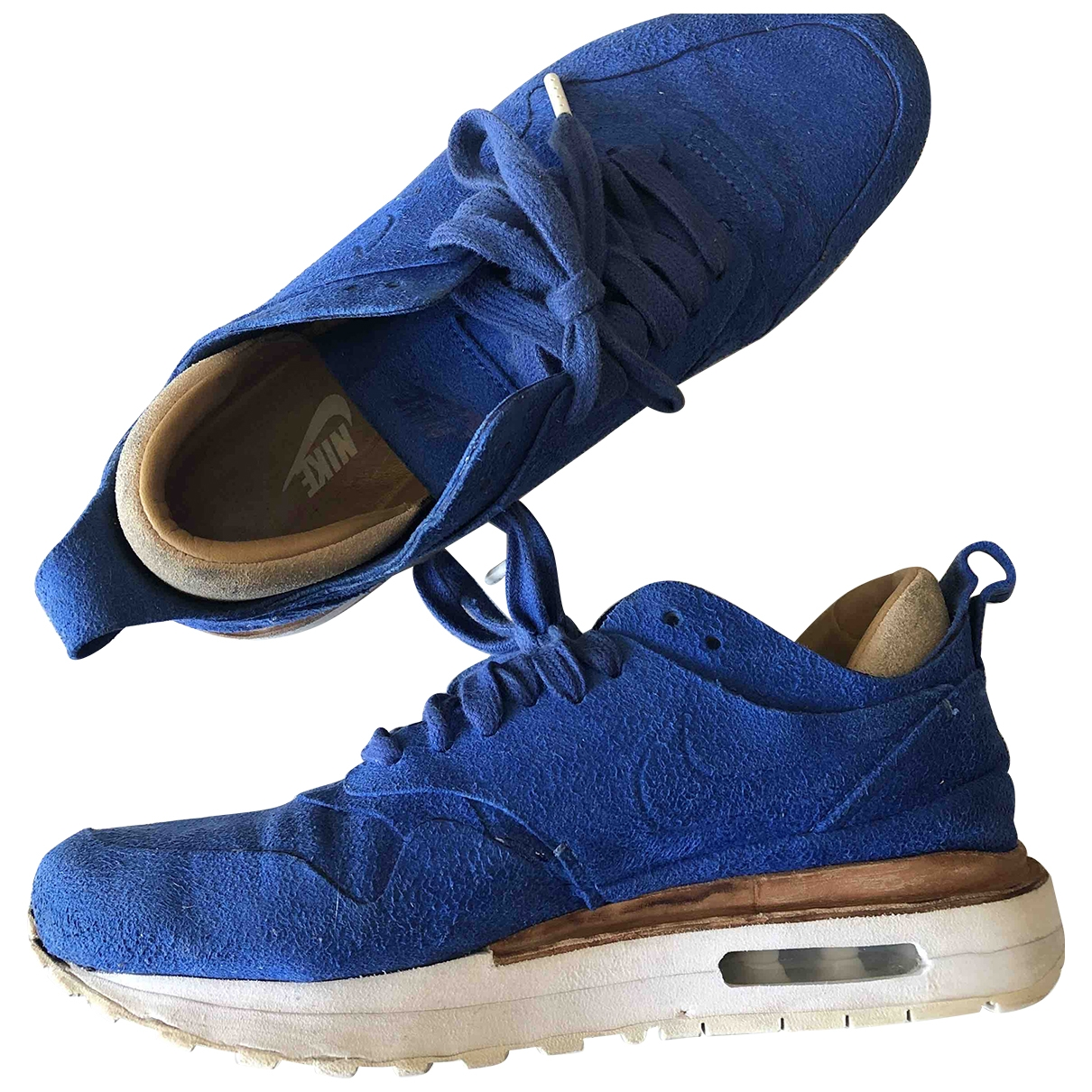 Nike Air Max 1 Blue Suede Trainers for Women 36.5 EU