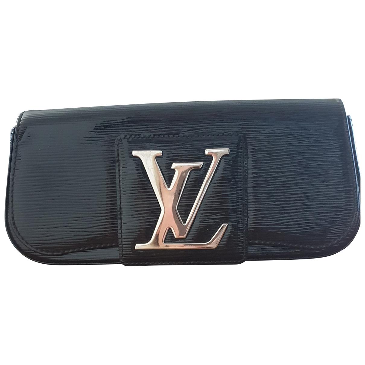Louis Vuitton Sobe Clutch in  Schwarz Leder