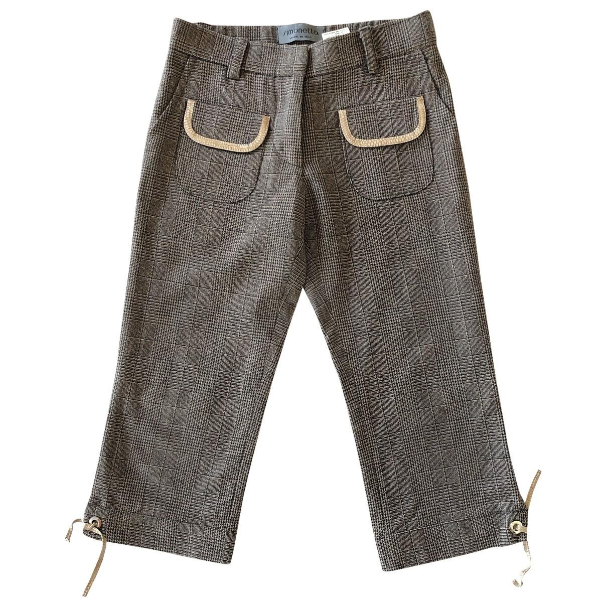 Simonetta - Pantalon   pour enfant en laine - marron