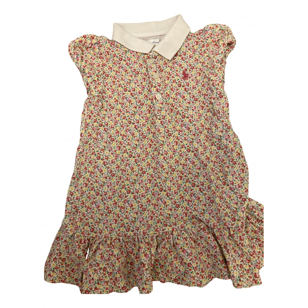 Ralph Lauren N Pink Cotton dress for Kids 18 months - up to 81cm FR