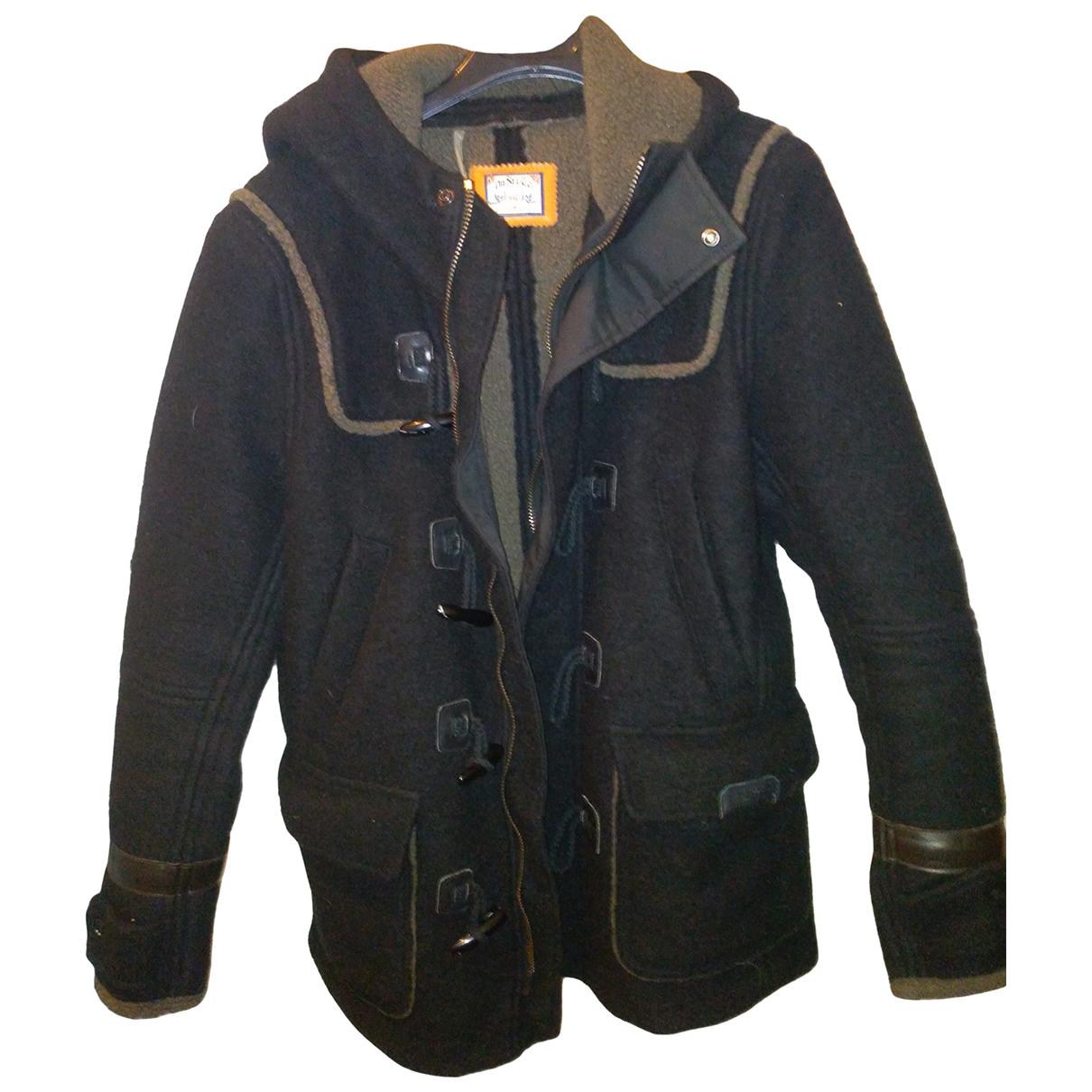 Diesel \N Jacke in  Schwarz Wolle