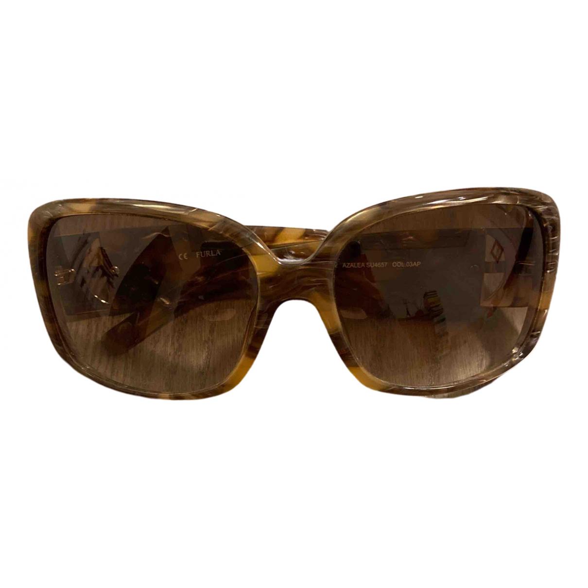 Furla \N Sonnenbrillen in  Braun Kunststoff