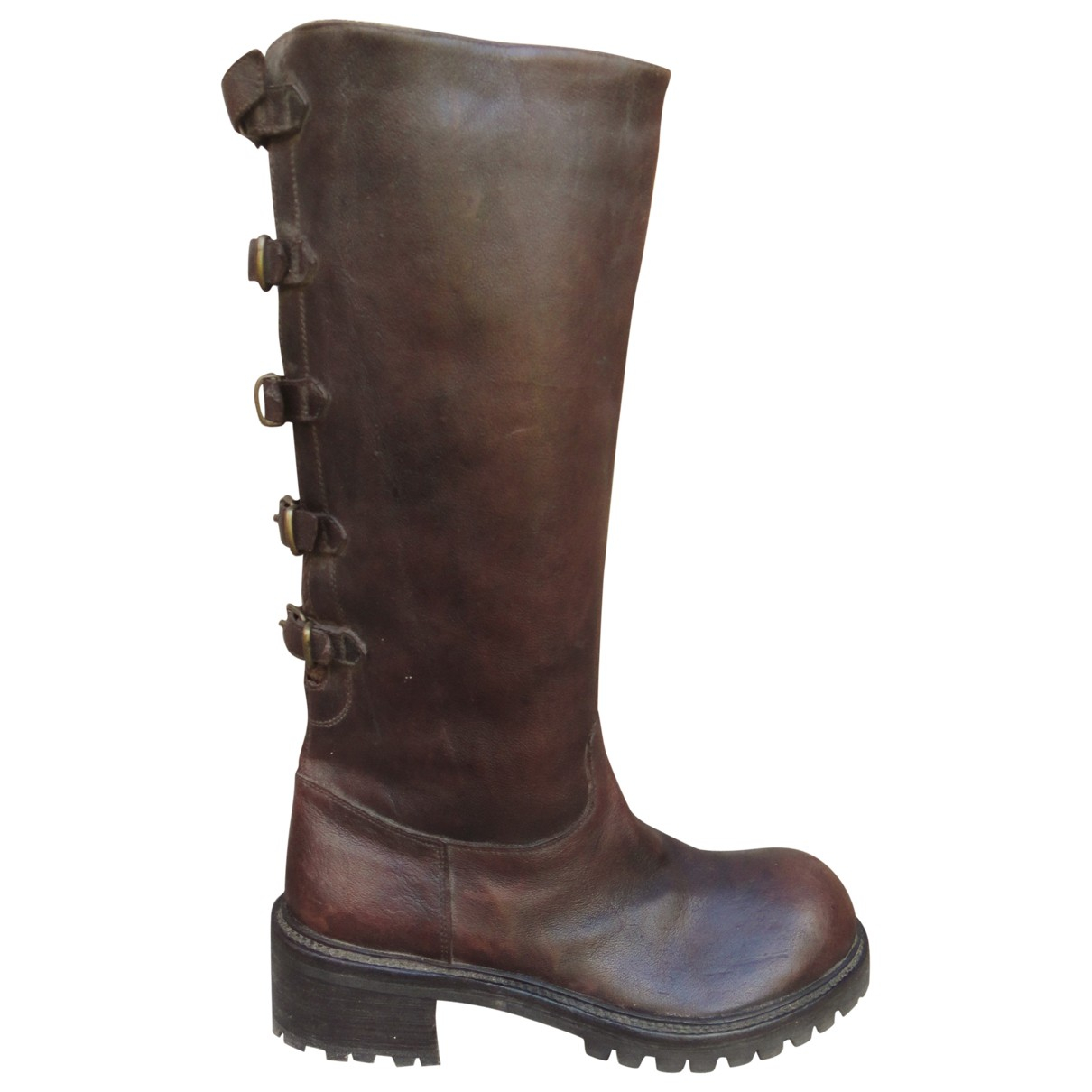 Sartore \N Brown Leather Boots for Women 37 IT